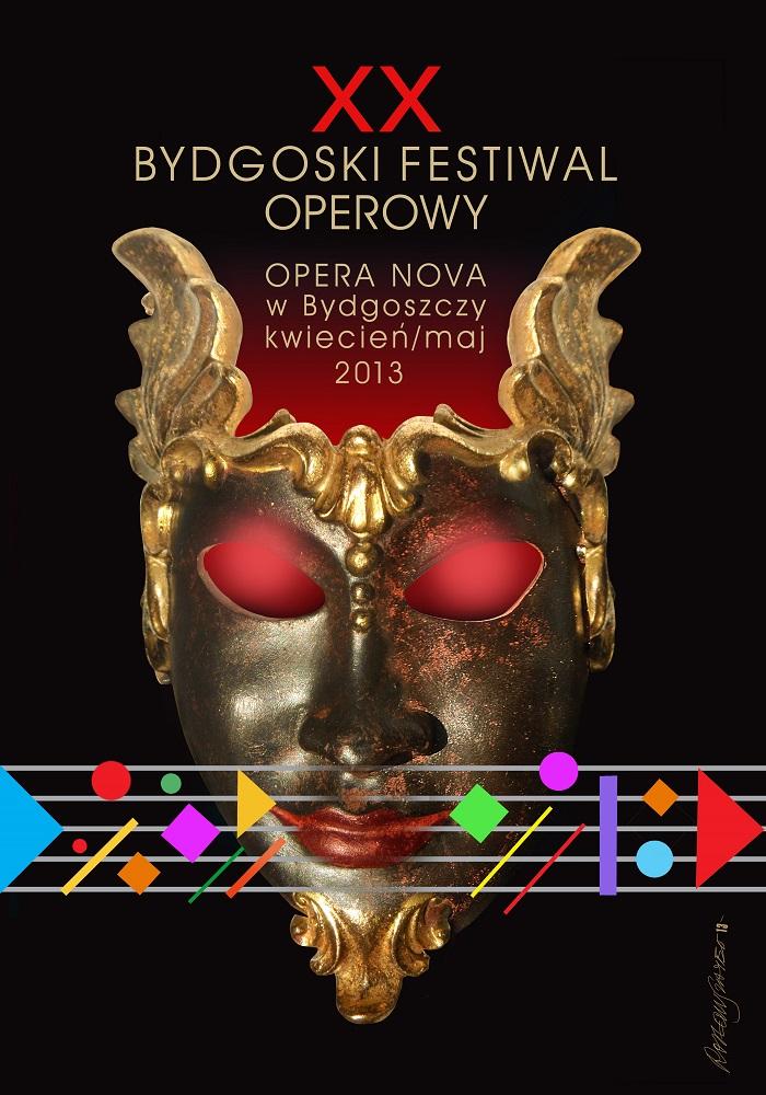 Plakat 20. Festiwalu Operowego w Bydgoszczy (materiały prasowe)