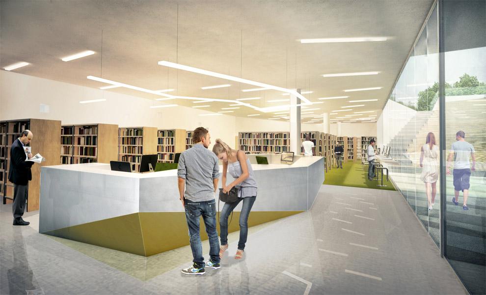 Biblioteka w Świeciu, proj. Front Architects (źródło: materiały prasowe organizatora)