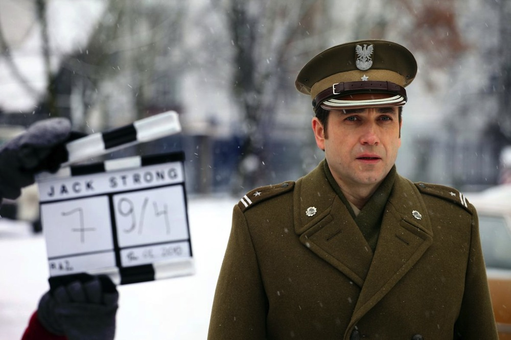 """Marcin Dorociński na planie filmu """"Jack Strong"""" (źródło: materiały prasowe)"""