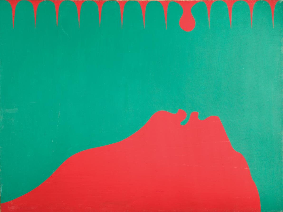 """Jurry Zieliński, """"Zaspakajanie"""", 1969, reprodukcja z Archiwum Galerii Zderzak (źródło: materiały prasowe organizatora)"""