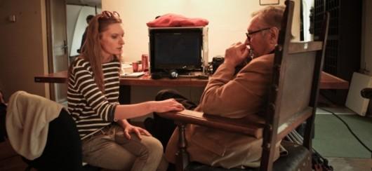 Agata Buzek na planie nowego filmu Krzysztofa Zanussiego (źródło: materiały prasowe organizatora)