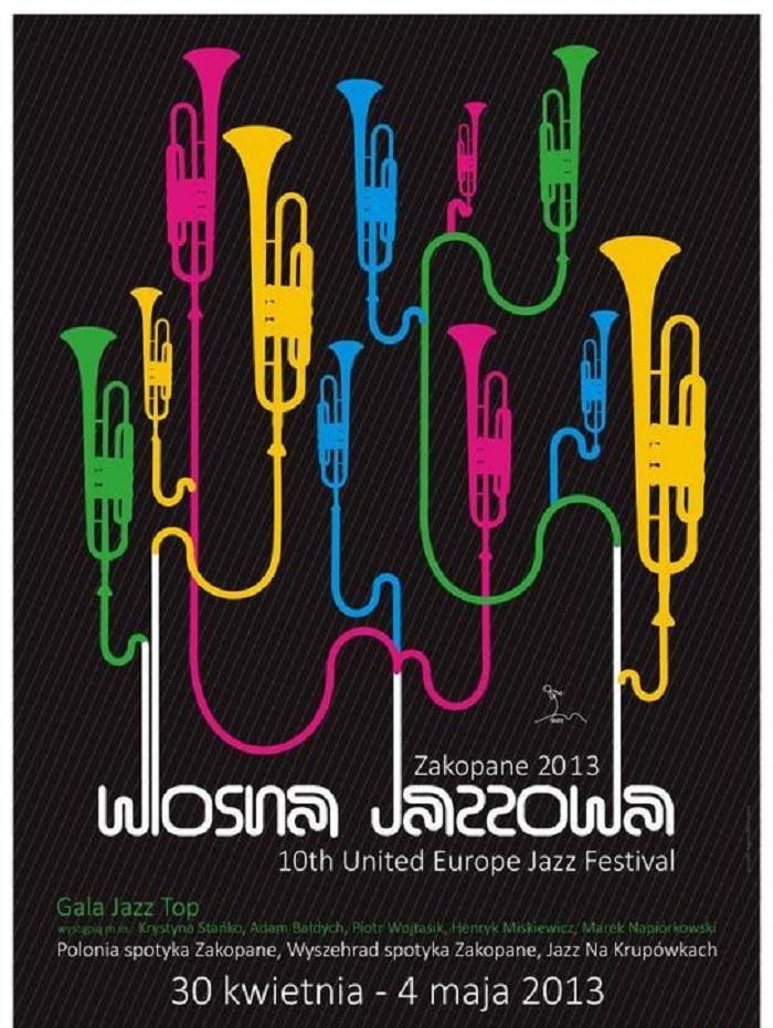 Wiosna Jazzowa Zakopane 2013, plakat (źródło: mat. prasowe)