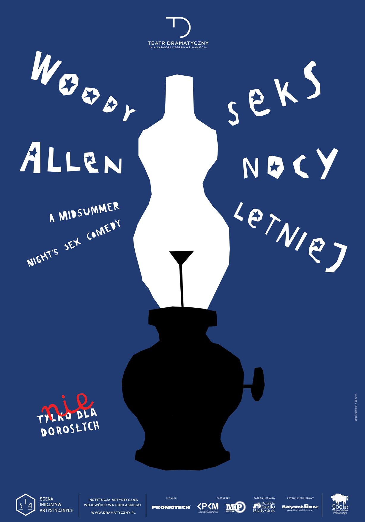 """""""Seks nocy letniej"""" Woody Allena, Teatr Dramatyczny im. Aleksandra Węgierki w Białymstoku (źródło: materiały prasowe)"""