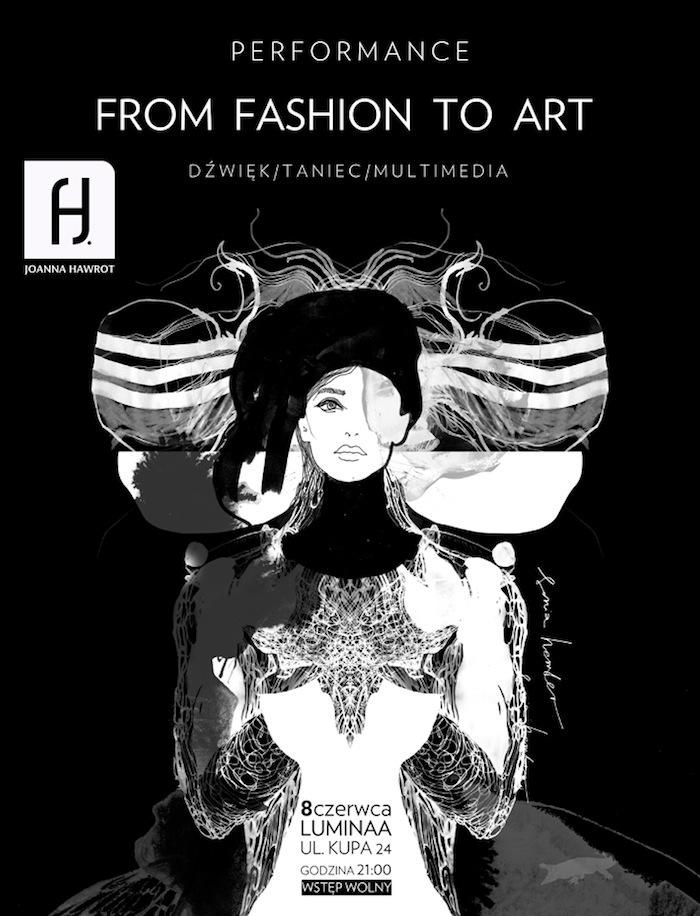 """Instalacja """"From Fashion To Art, czyli libretto na ciało"""", plakat (źródło: materiały prasowe organizatora)"""