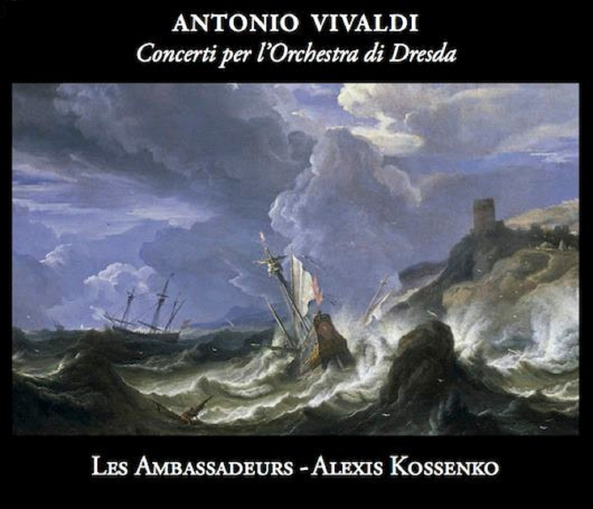 """Antonio Vivaldi Concerti per l'orchestra di Dresda"" Les Ambassadeurs, okładka (źródło: mat. prasowe)"