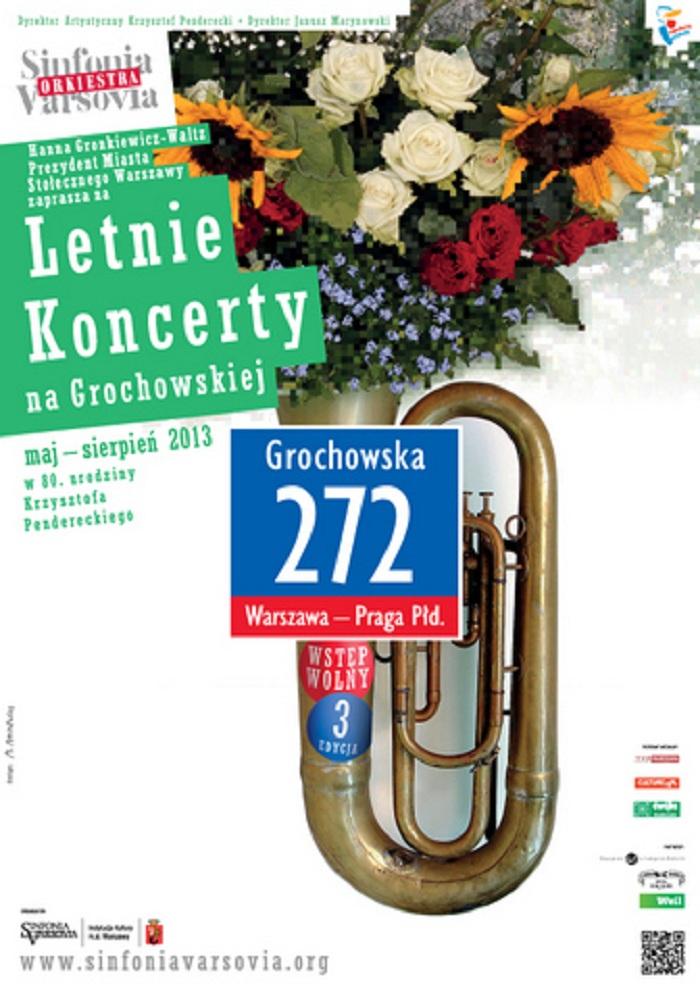 Letnie Koncerty na Grochowskiej, plakat (źródło: mat. prasowe)