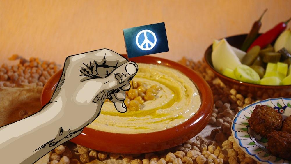 """""""Make Hummus Not War"""" (źródło: materiały prasowe organizatora)"""