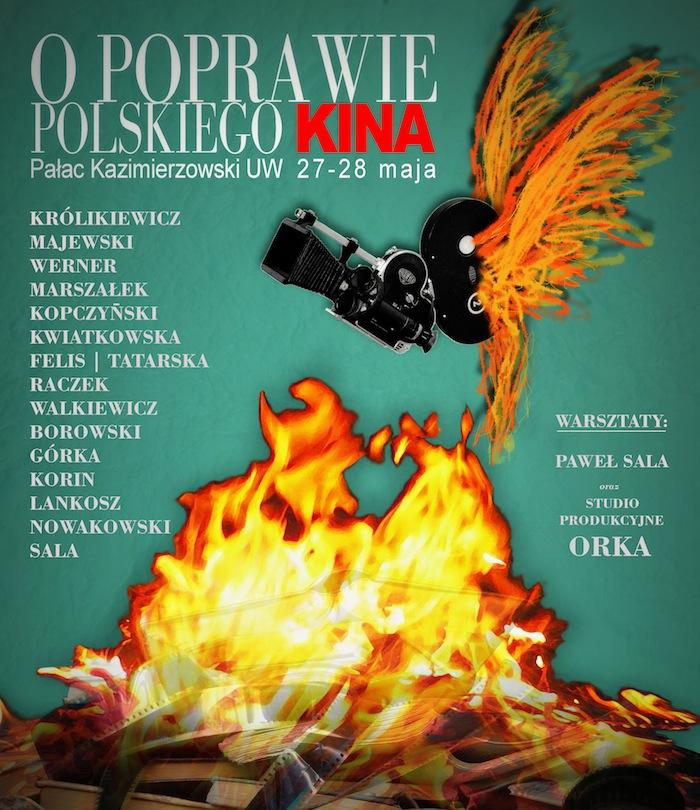 O poprawie polskiego kina, plakat (źródło: materiały prasowe organizatora)
