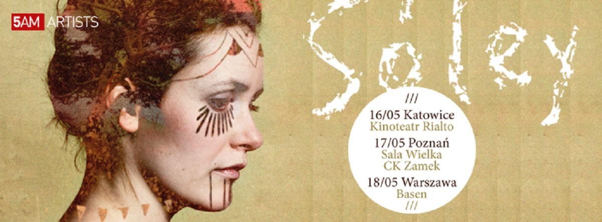 Koncerty Sóley, plakat (źródło: mat. prasowe)