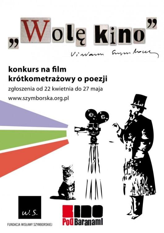 Wolę kino – konkurs na film krótkometrażowy o poezji (źródło: materiały prasowe organizatora)