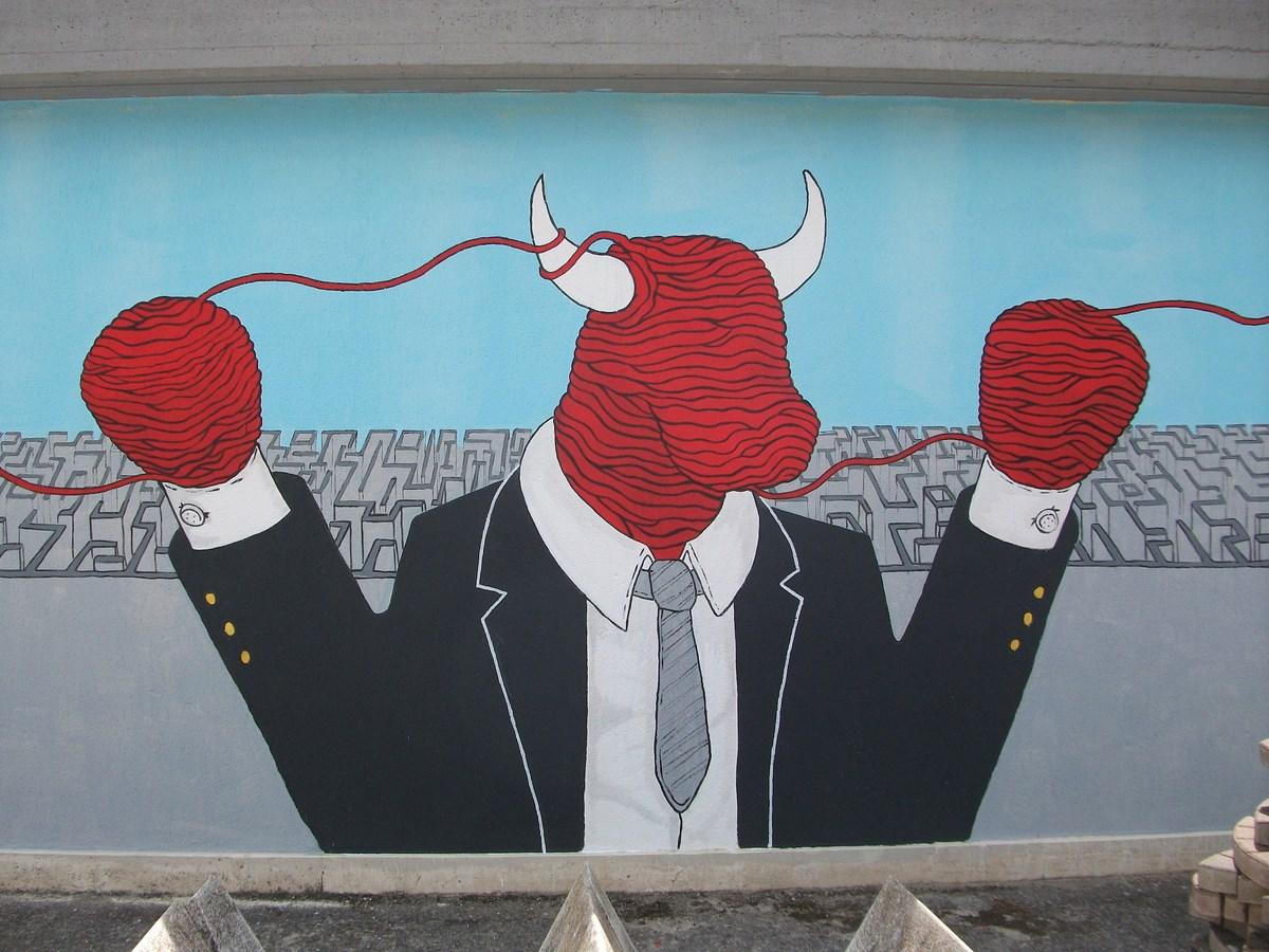 Alessandro di Massimo (Włochy), mural w Salmonie, Włochy (źródło: materiały prasowe organizatora)