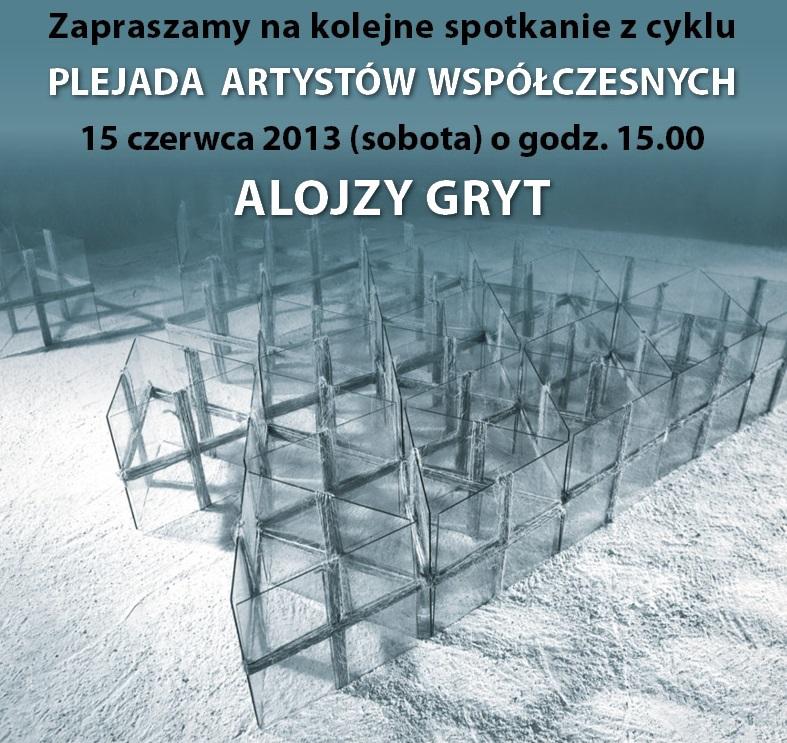"""Na zaproszeniu praca: Alojzy Gryt, """"996"""", 1986, fot. A. Podstawka (źródło: materiały prasowe organizatora)"""