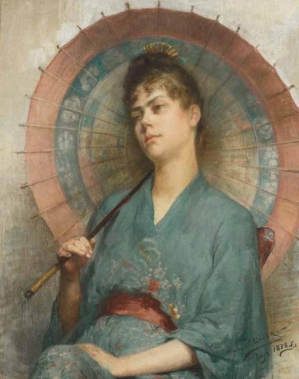 """Anna Bilińska, """"Japonka"""", 1888, Kolekcja Del Debbio w Paryżu (źródło: materiały prasowe organizatora)"""