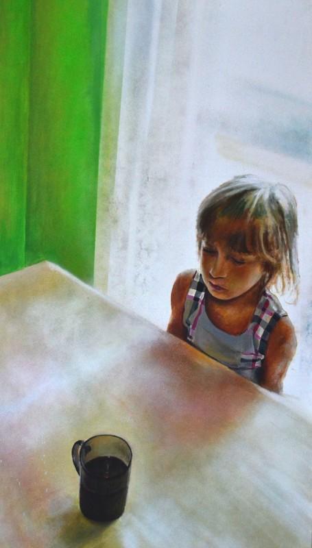 """Arkadiusz Andrejkow, """"Wyrób nr 3"""", 120x70 cm, akryl, spray, płótno, 2013 (źródło: materiały prasowe organizatora)"""