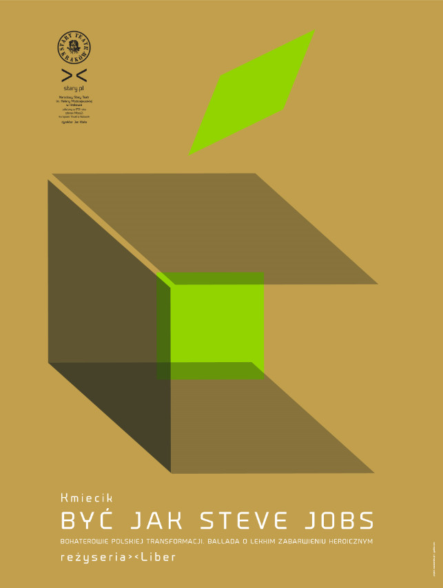 Być jak Steve Jobs, reż. Marcin Liber – plakat (źródło: materiały prasowe)