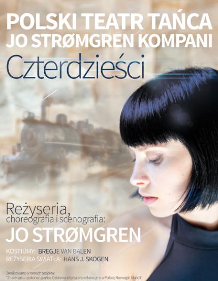 Czterdzieści – prapremiera Poslkiego Teatru Tańca – plakat (źródło: mat. prasowe)