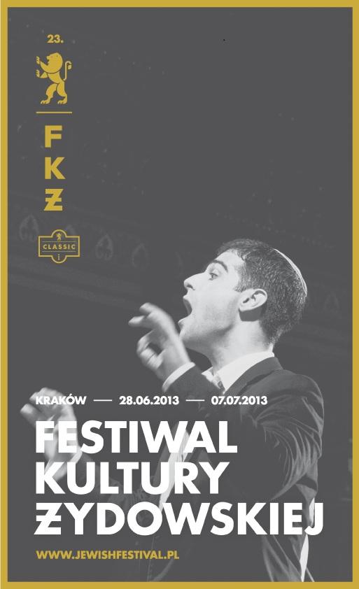 Plakat Festiwalu Kultury Żydowskiej (źródło: materiały prasowe)