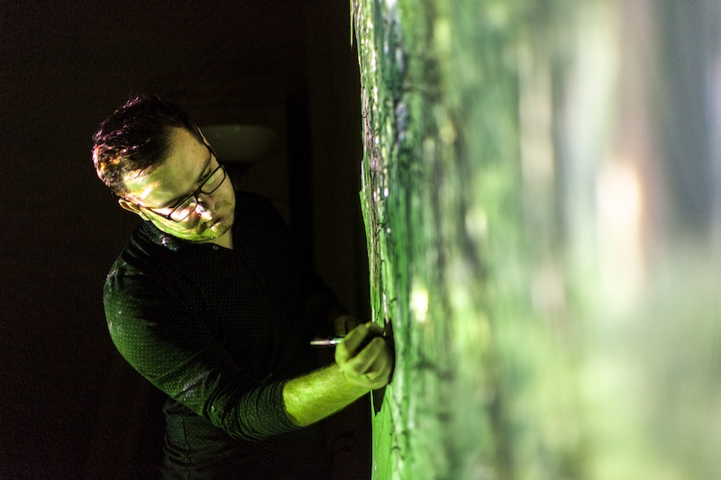 Grzegorz Mart przy pracy (źródło: materiały prasowe organizatora)