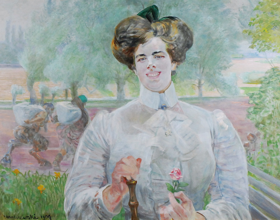 """Jacek Malczewski, """"Portret kobiety z różą"""", 1909 (źródło: materiały prasowe organizatora)"""