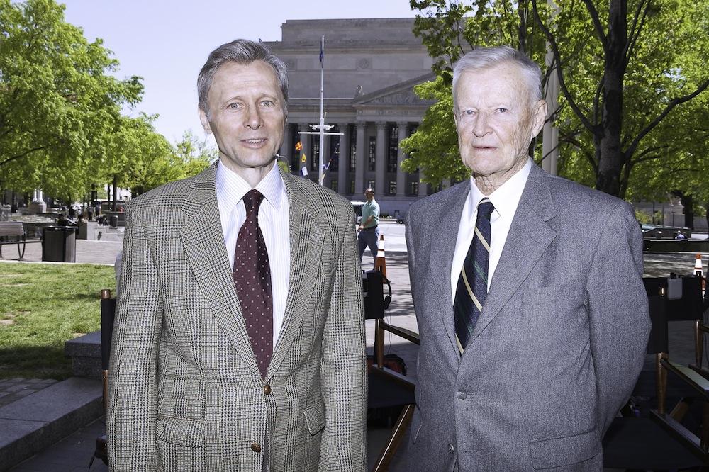Krzysztof Pieczyński i Zbigniew Brzeziński, fot. B. Stadnicki (źródło: materiały prasowe)