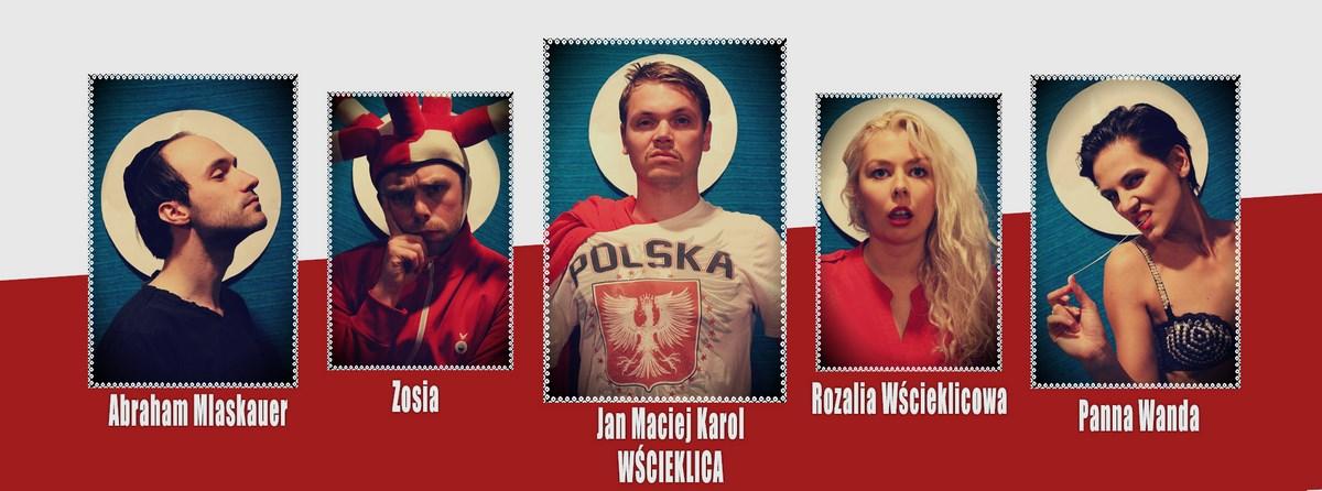 """Plakat spektaktu pt. """"Jan Maciej Karol Wścieklica"""", Czysta ReFORMA – Teatr Odwrócony w Krakowie (źródło: materiały prasowe organizatora)"""