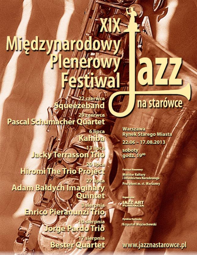 Jazz na Starówce – plakat (źródło: mat. prasowe)