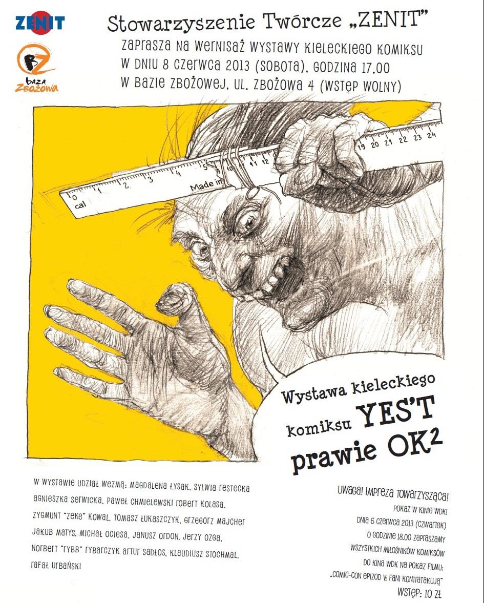 Jerzy Ozga, plakat do wystawy (źródło: materiały prasowe organizatora)