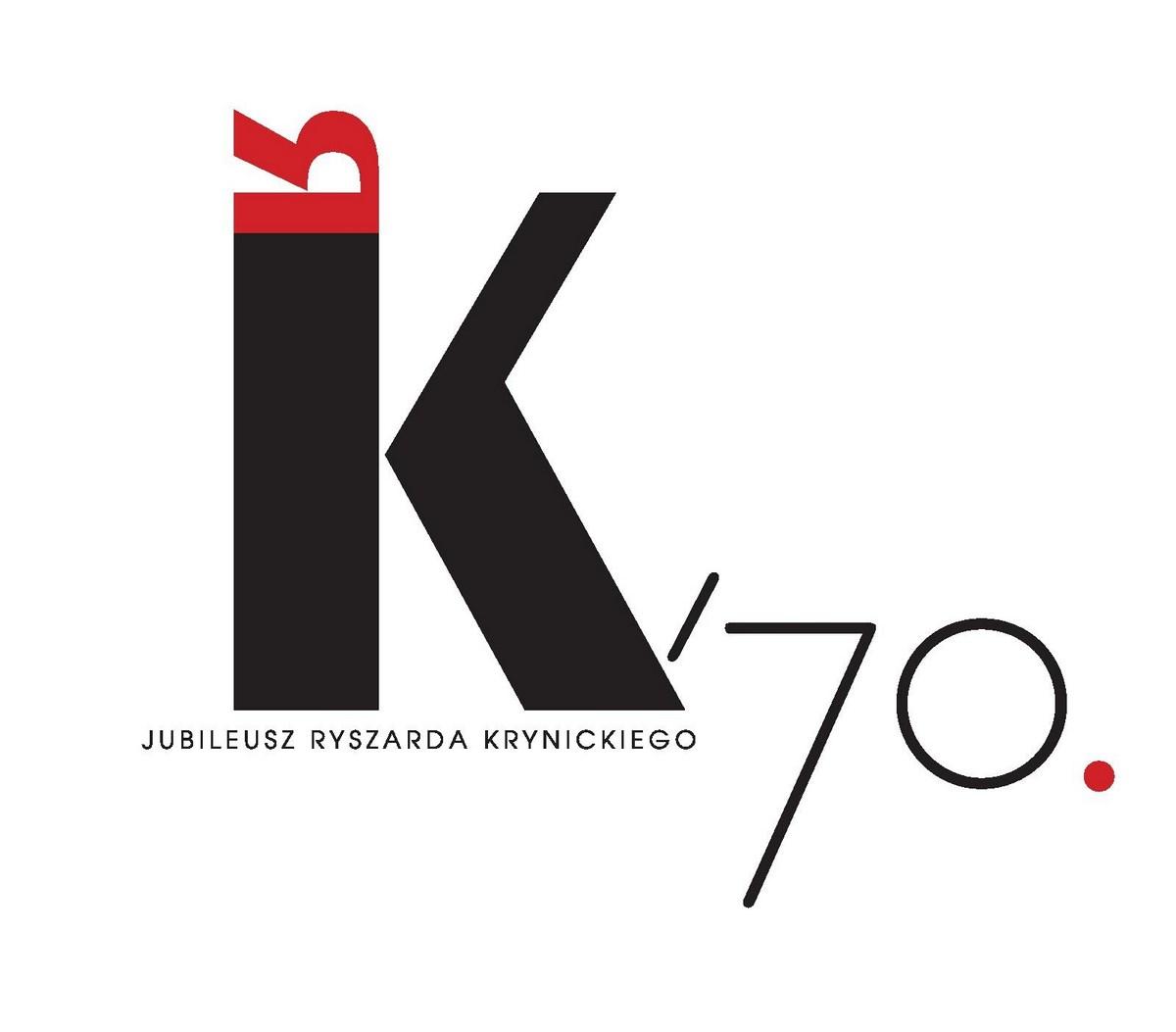 """Jubileusz Ryszarda Krynickiego """"RK70"""", logo (źródło: materiały prasowe organizatora)"""