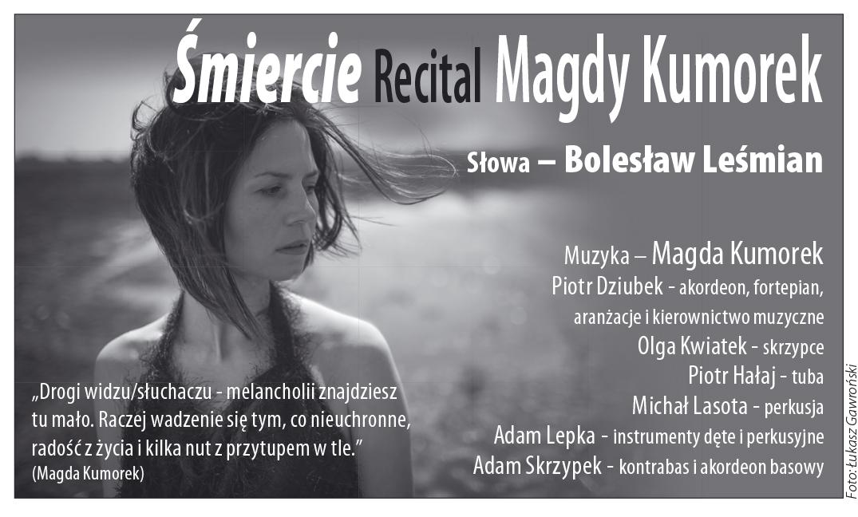 Zaproszenie na recital Magdy Kumorek, Lato Teatralne Sopot 2013, fot. Łukasz Gawroński (źródło: materiały prasowe organizatora)