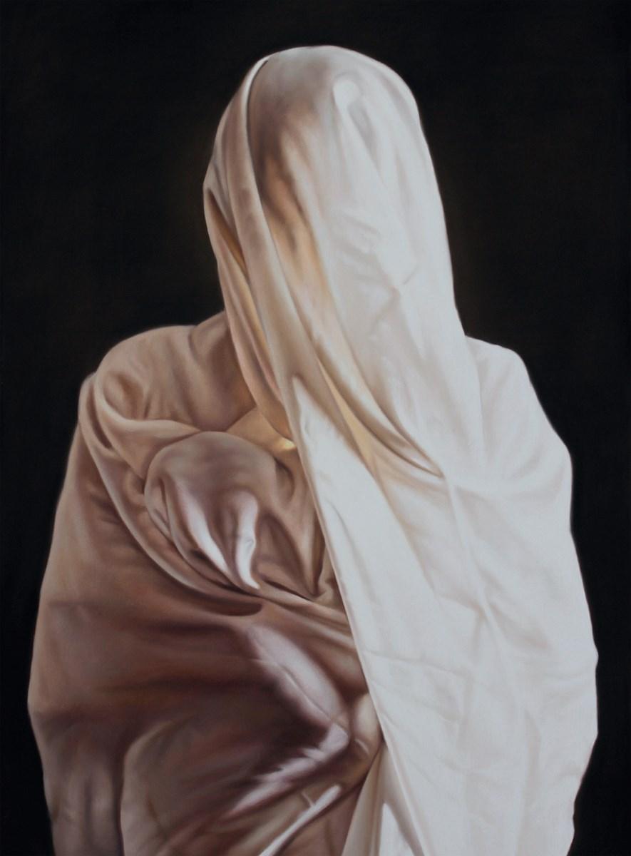 """Maria Malczewska Bernhardt, """"Portreit II"""", 2012, Pastel, 140x100 cm (źródło: materiały prasowe organizatora)"""