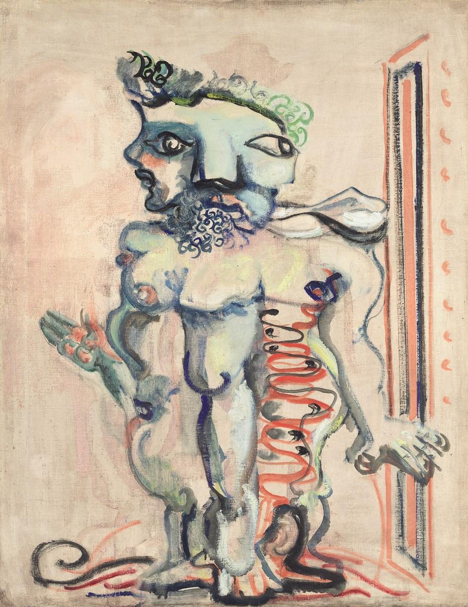 """Mark Rothko, """"Bez tytułu"""", 1940–1941, olej, płótno, 91,6 × 71,3 cm, National Gallery of Art, Waszyngton, dar The Mark Rothko Foundation, Inc. 1986.43.36. Copyright © 1998 Kate Rothko Prizel i Christopher Rothko. Fot. dzięki uprzejmości National Gallery of Art, Waszyngton (źródło: materiały prasowe MNW)"""