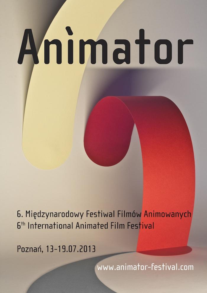 Międzynarodowy Festiwal Filmów Animowanych Animator, plakat, proj. Mateusz Sadowski (źródło: materiały prasowe)