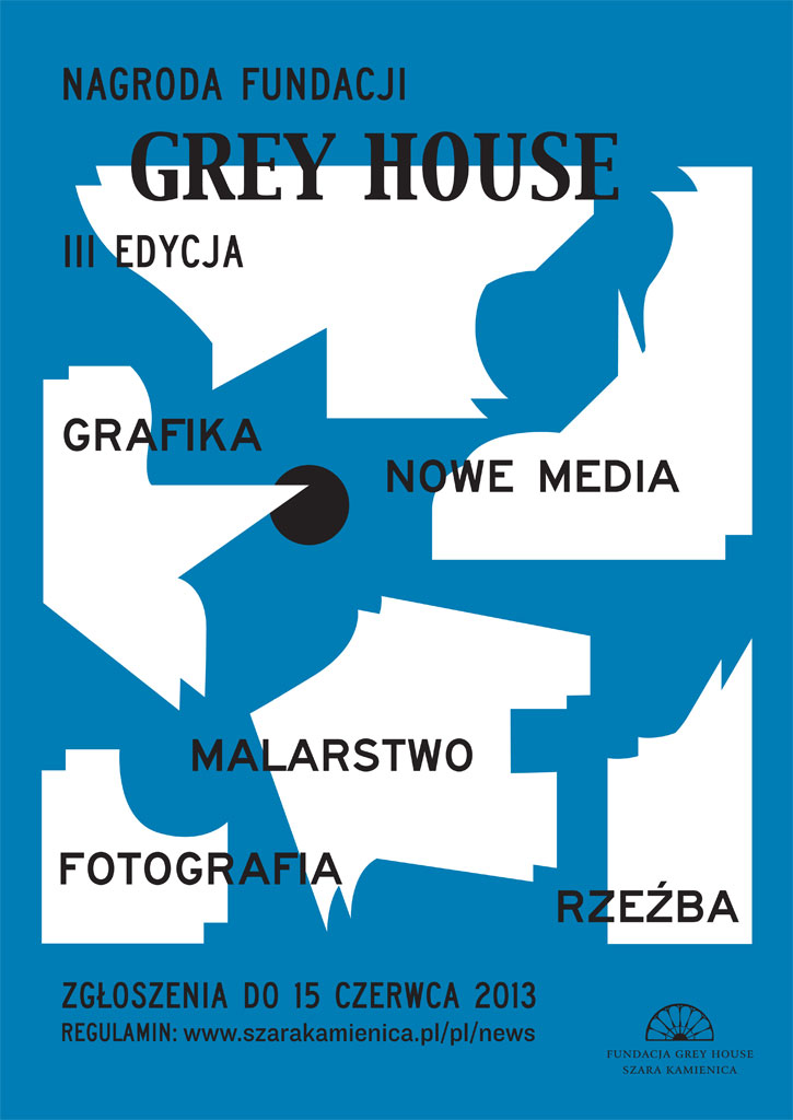 Nagroda Fundacji Grey House 2013, plakat (źródło: materiały prasowe organizatora)