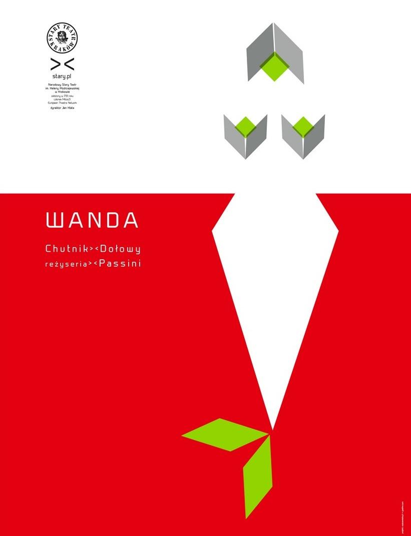 """Plakat spektaklu """"Wanda"""", reż. Paweł Passini, Stary Teatr w Krakowie (źródło: materiały prasowe organizatora)"""