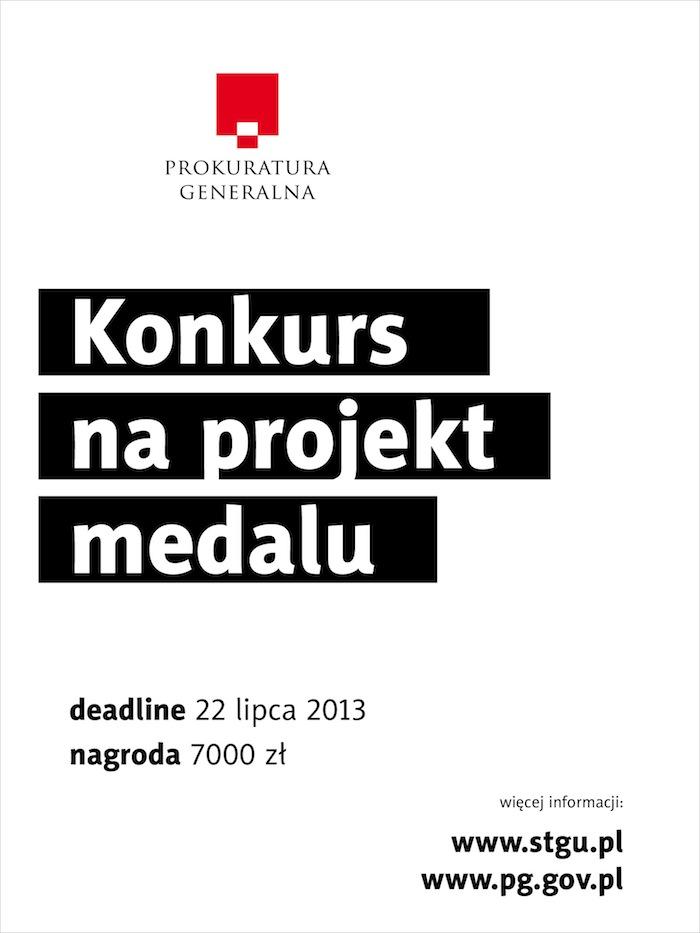 Konkurs na projekt medalu dla Prokuratury Generalnej (źródło: materiały prasowe organizatora)