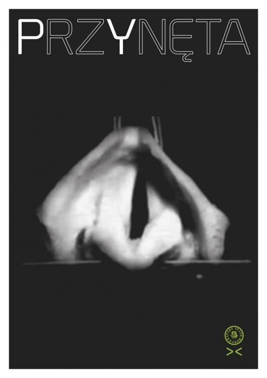 """Plakat do spektaklu pt. """"Przynęta"""", Narodowy Stary Teatr im. Heleny Modrzejewskiej w Krakowie (źródło: materiały prasowe organizatora)"""