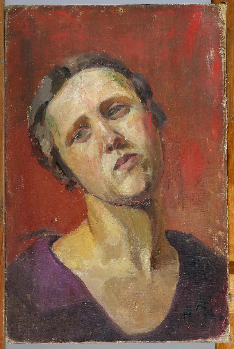 """Hanna Rudzka-Cybis """"Autoportret"""", 1920 rok (źródło: mat. prasowe)"""