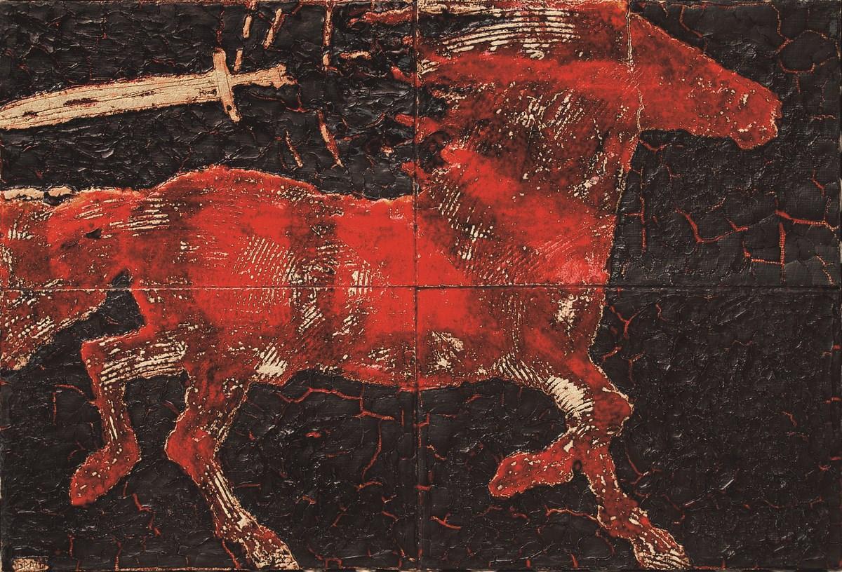 """Stanisław Brach, """"Czerwony"""" z cyklu """"Jeźdźcy apokalipsy"""" (źródło: materiały prasowe organizatora)"""
