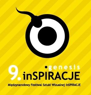 9. Międzynarodowy Festiwal Sztuki Wizualnej inSPIRACJE / genesis, logo (źródło: materiały prasowe organizatora)