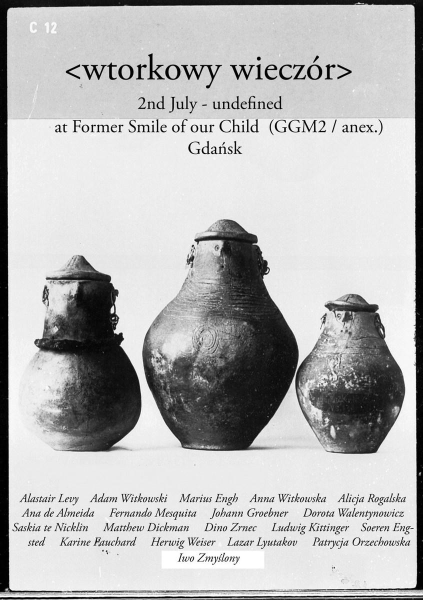Projekt dienstag abend, Aneks Gdańskiej Galerii Miejskiej 2, plakat wystawy (źródło: materiały prasowe organizatora)
