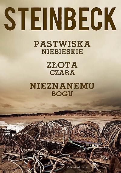 """""""Pastwiska Niebieskie"""", """"Złota Czara"""", """"Nieznanemu bogu"""", John Steinbeck – okładka (źródło: materiały prasowe)"""