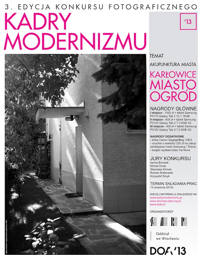 """Konkurs """"Kadry modernizmu"""" (źródło: materiały prasowe organizatora)"""