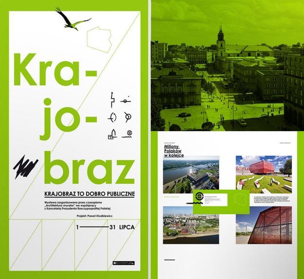 """""""Krajobraz jako dobro publiczne"""", proj. graficzny: Paweł Kłudkiewicz (źródło: materiały prasowe organizatora)"""