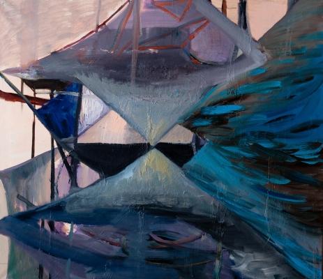 Krzysztof Mężyk, bez tytułu, olej na płótnie, 2011 © Fundacja Rozwoju Sztuki Zielona Marchewka (źródło: materiały prasowe organizatora)