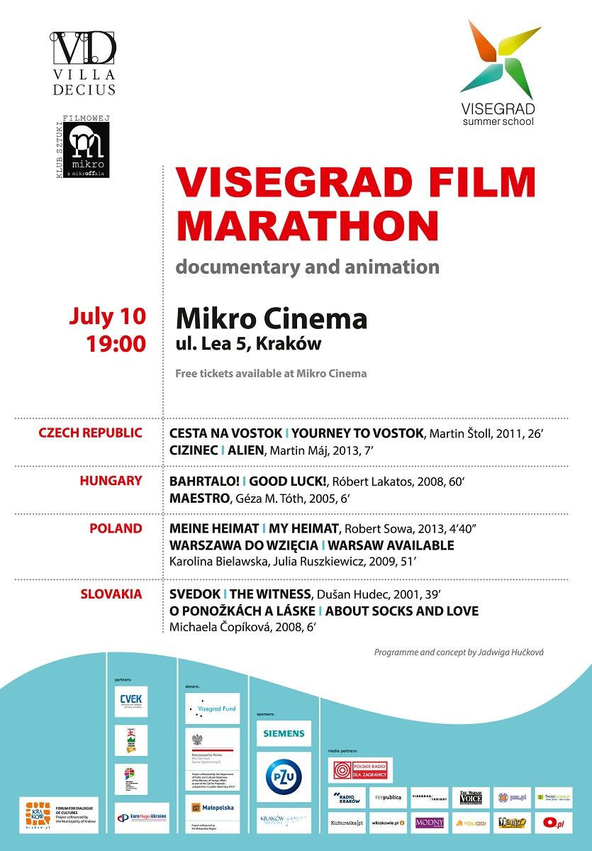 Maraton Filmów Wyszehradzkich, plakat (źródło: mat. prasowe)