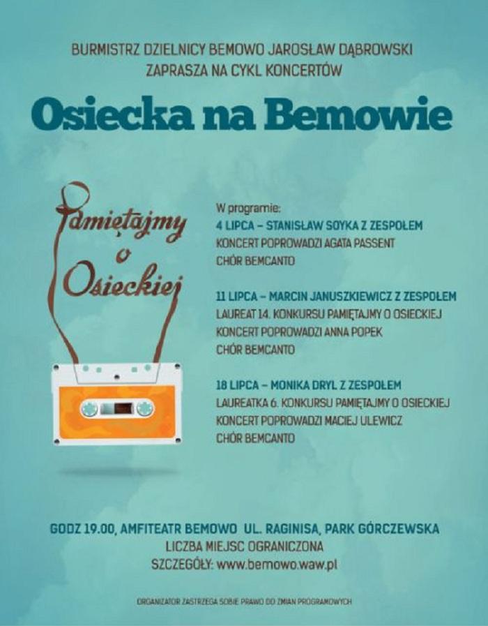 """""""Osiecka na Bemowie"""", koncerty (źródło: mat. prasowe)"""