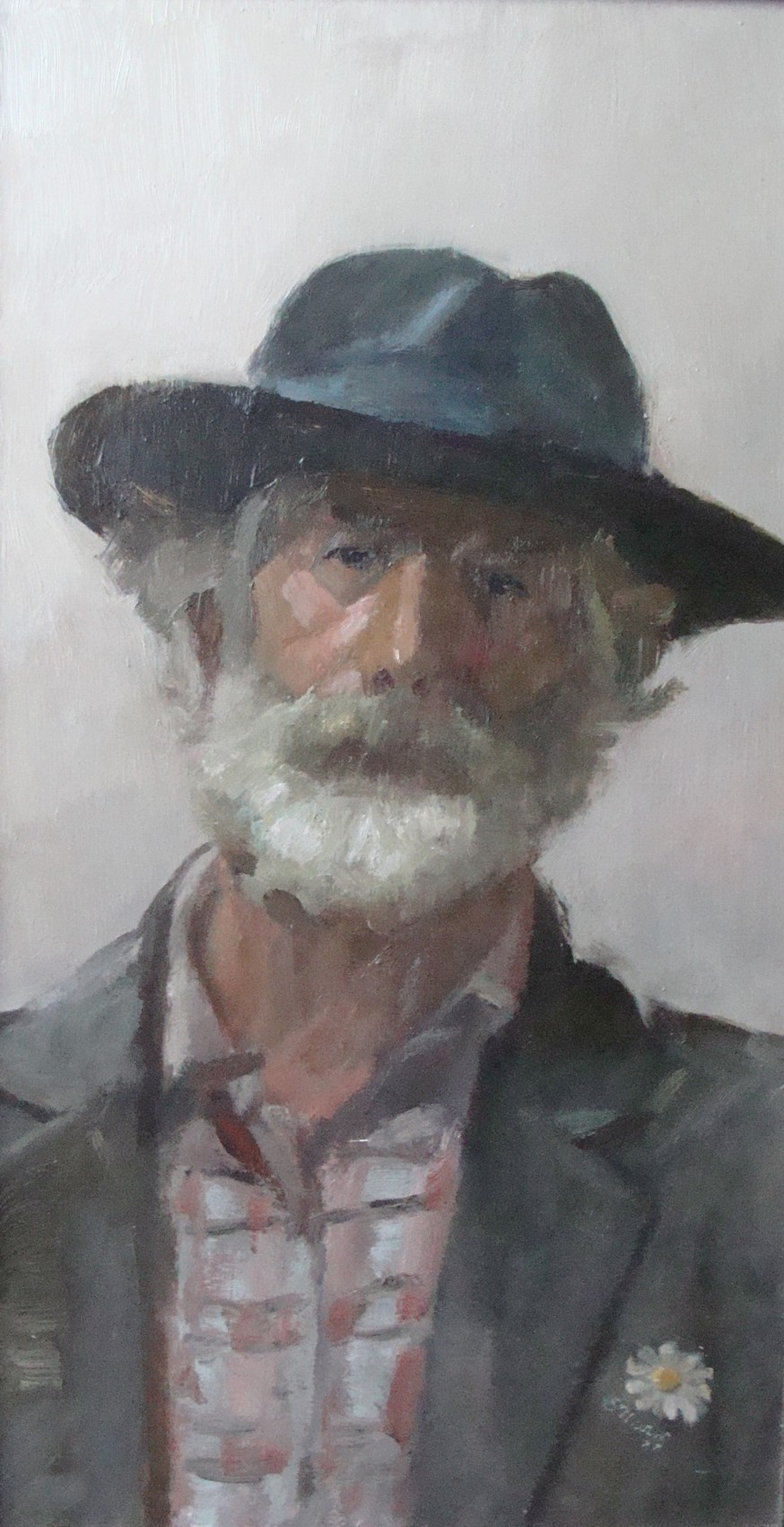 """Stanisław Mazuś, """"Autoportret w kapeluszu"""", 1988 (źródło: materiały prasowe organizatora)"""