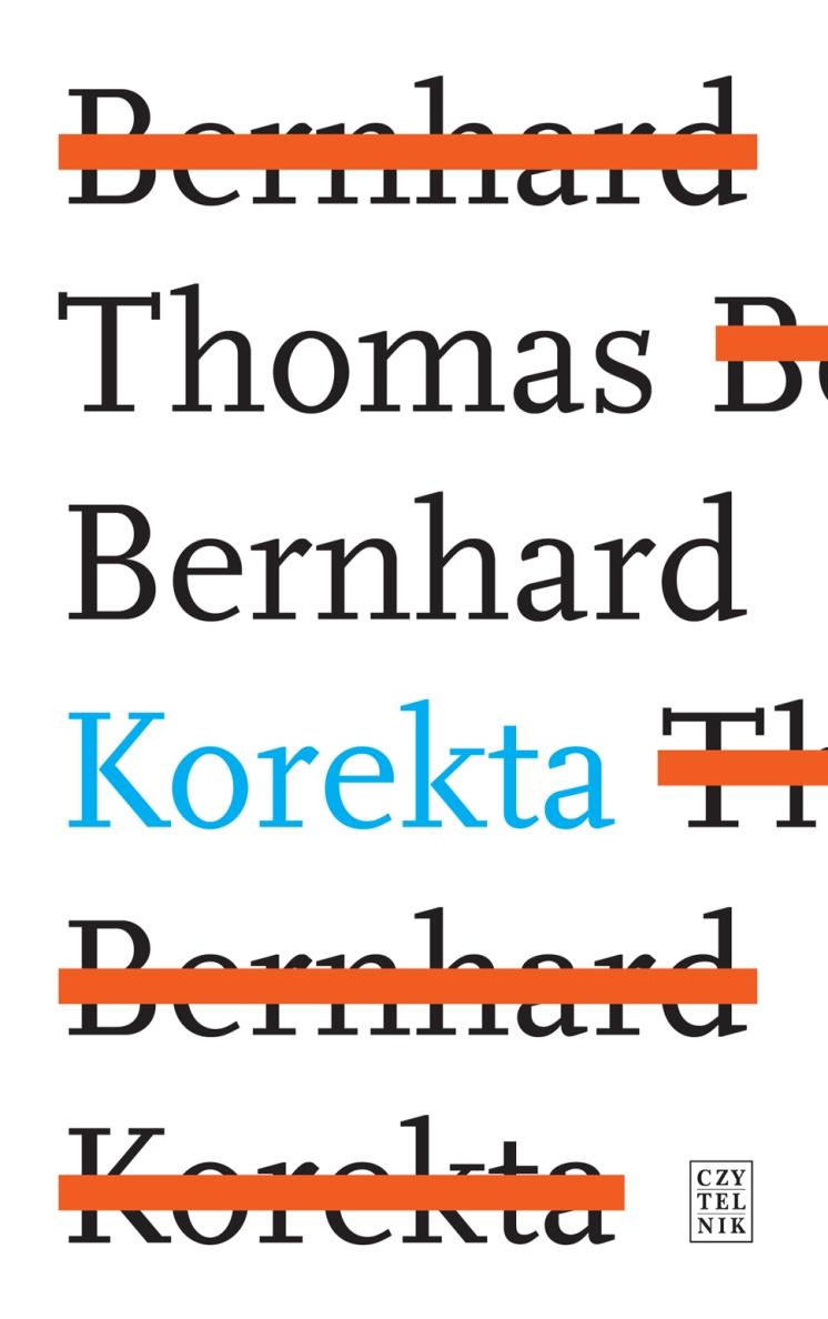 """Thomas Bernhard """"Korekta"""" – okładka (źródło: materiały prasowe)"""