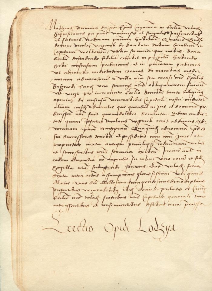 Kopia dokumentu z 1423 r. (źródło: materiały prasowe organizatora)