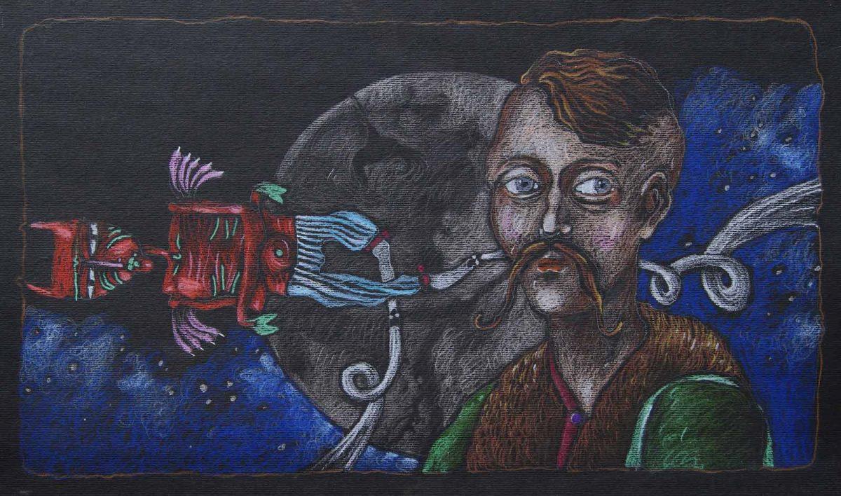 """D. Łukasik """"Mistrz Twardowski"""", fot. Janusz Zimon, BWA Galeria Zamojska (źródło: materiały prasowe)"""